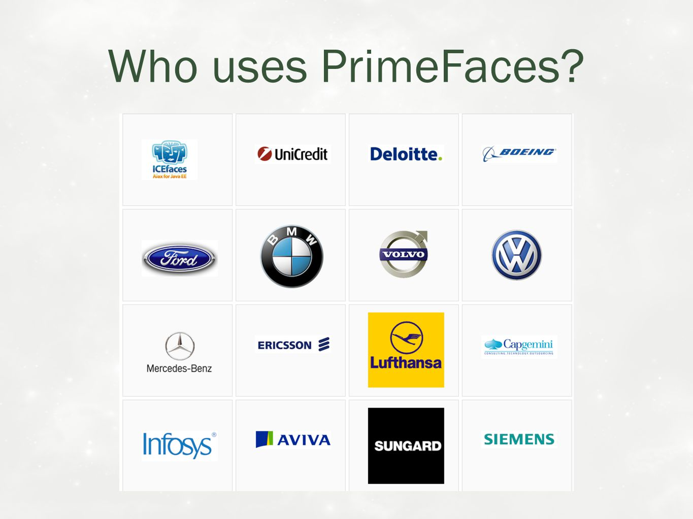 Who uses PrimeFaces