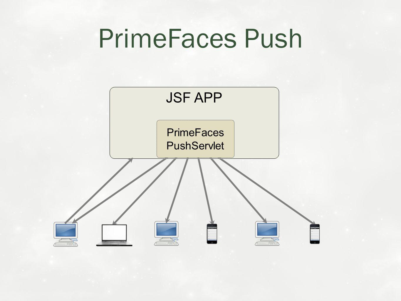 PrimeFaces Push JSF APP PrimeFaces PushServlet
