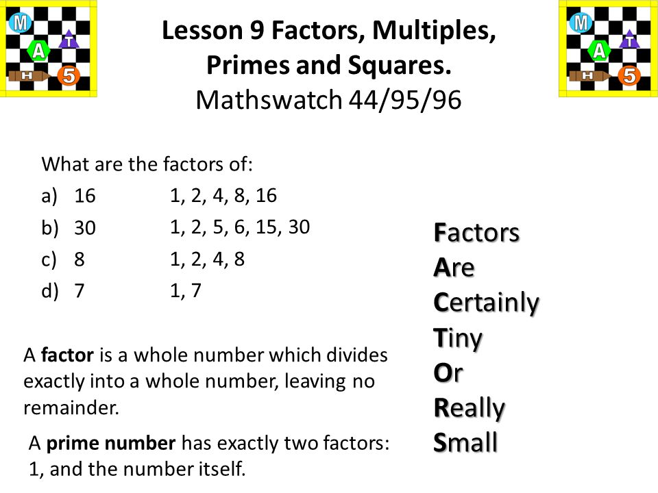 a)2 and 5 b)3 and 4 c)4 and 8 d)5 and 6 e)3 and 8 f)4 and 9 g)8 and 10 h)4, 5 and 12. 10 12 8 30 24 36 40 60 Find the LCM of the following: Lesson 9 F
