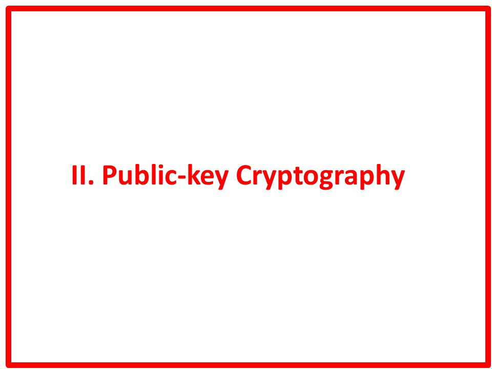 II. Public-key Cryptography