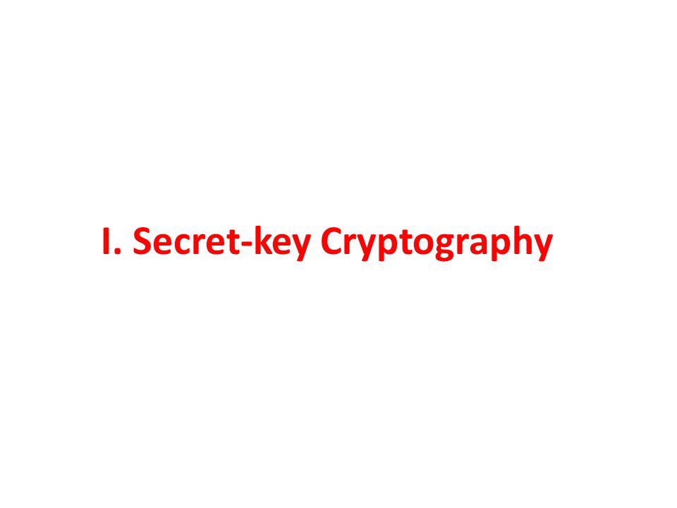 I. Secret-key Cryptography