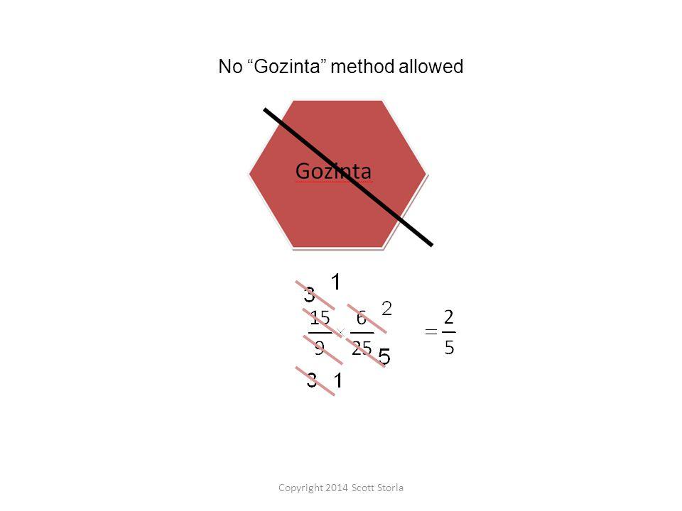 No Gozinta method allowed Copyright 2014 Scott Storla