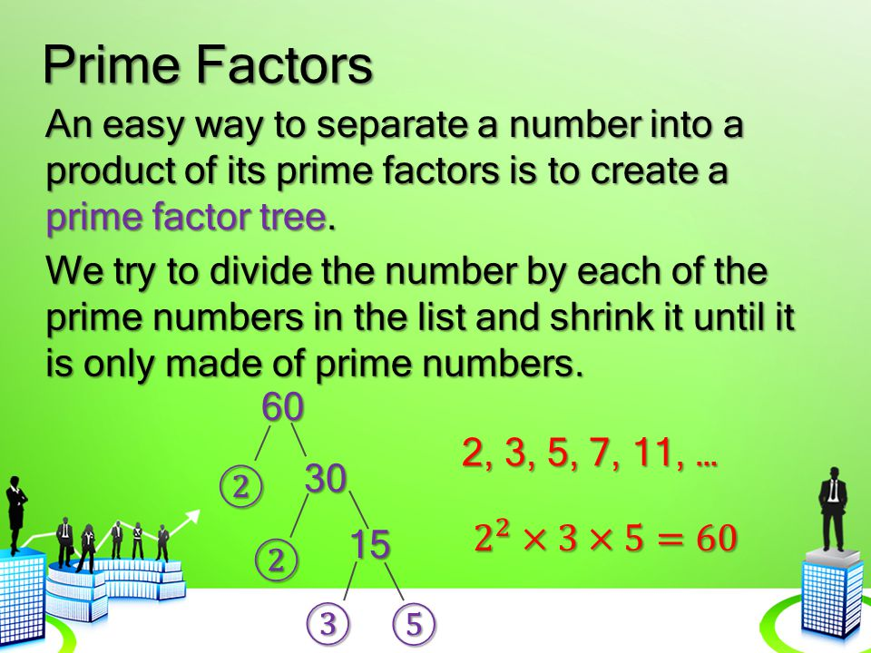 Prime Factors Let's try with a larger number.
