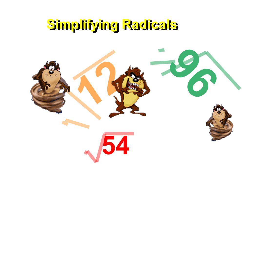 12 96 Simplifying Radicals 54