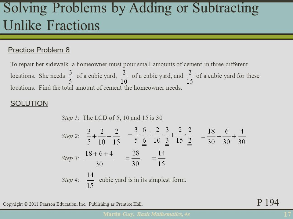 Martin-Gay, Basic Mathematics, 4e 18 Copyright © 2011 Pearson Education, Inc.