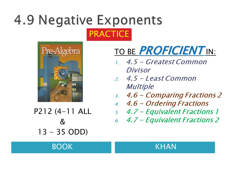 BOOKKHAN P212 (4-11 ALL & 13 - 35 ODD) PROFICIENT TO BE PROFICIENT IN: 1.