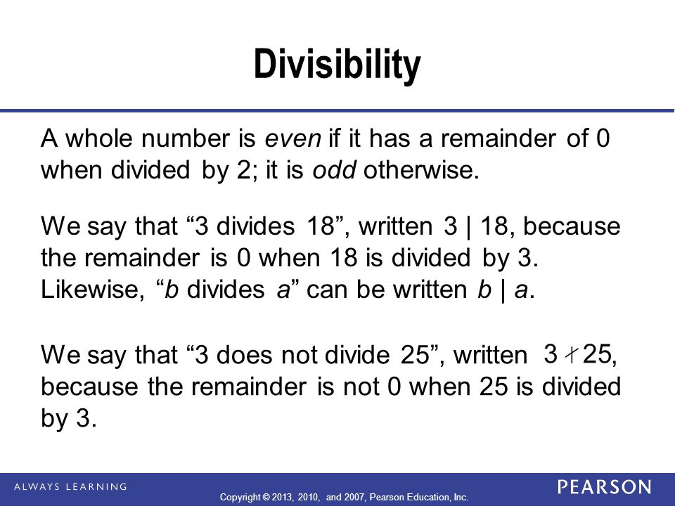 Example 4-7 (continued) Since 3 is the only single digit that will make x + 24 divisible by 9, x = 3.