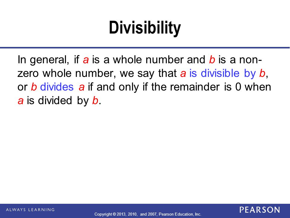  A whole number is divisible by 11 if and only if the sum of the digits in the places that are even powers of 10 minus the sum of the digits in the places that are odd powers of 10 is divisible by 11.