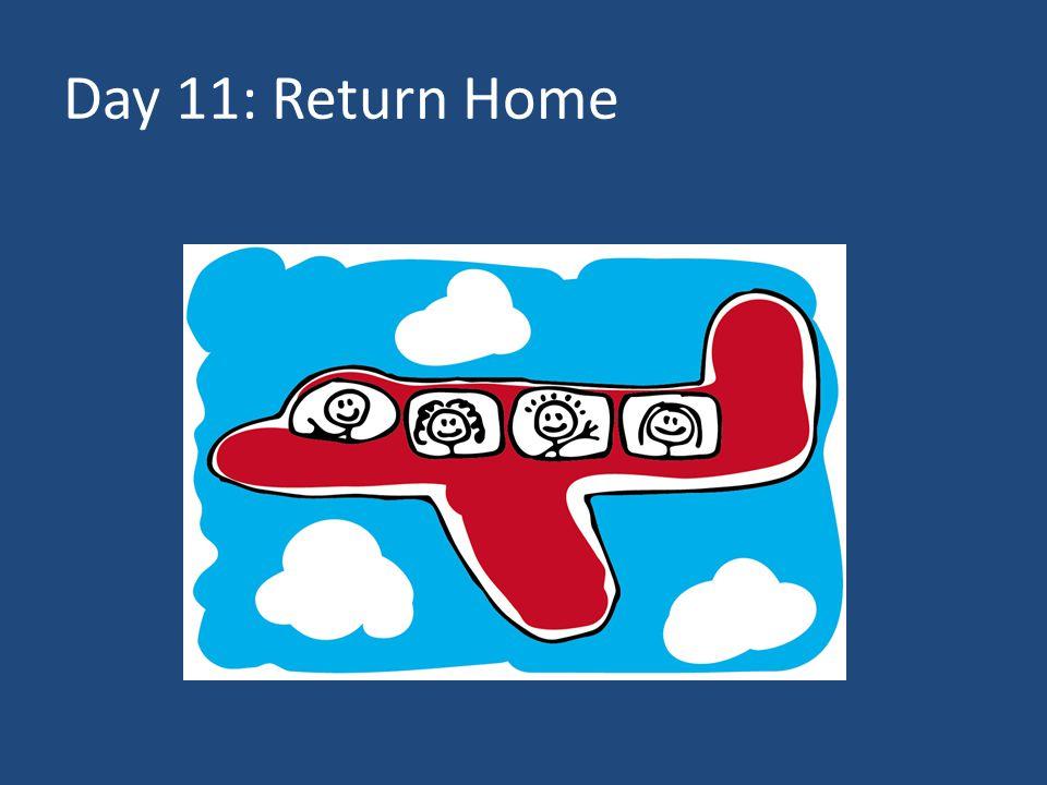 Day 11: Return Home