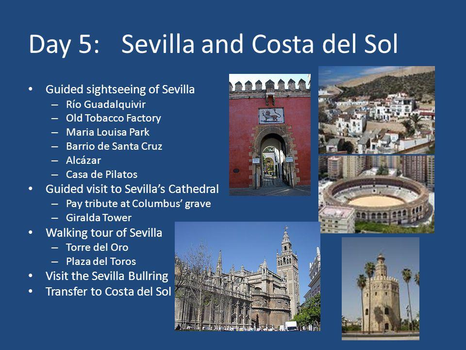 Day 6:Costa del Sol Optional excursion to Morocco – Strait of Gibraltar – Tetouan