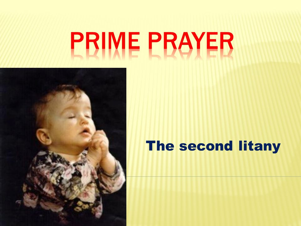 The second litany