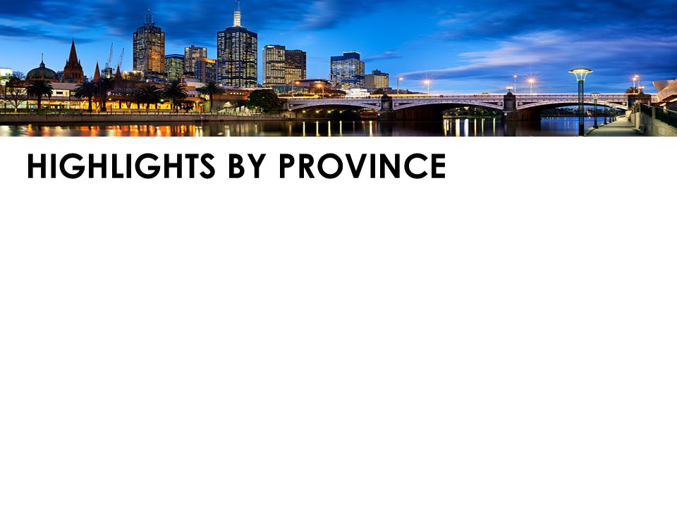 HIGHLIGHTS BY PROVINCE