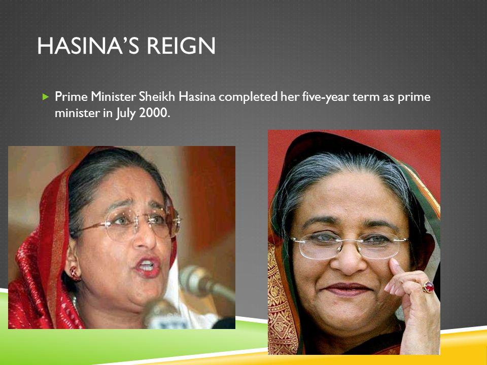 KHALEDA ZIA REIGNS  In Oct.2001 elections, Khaleda Zia again won the prime ministership.