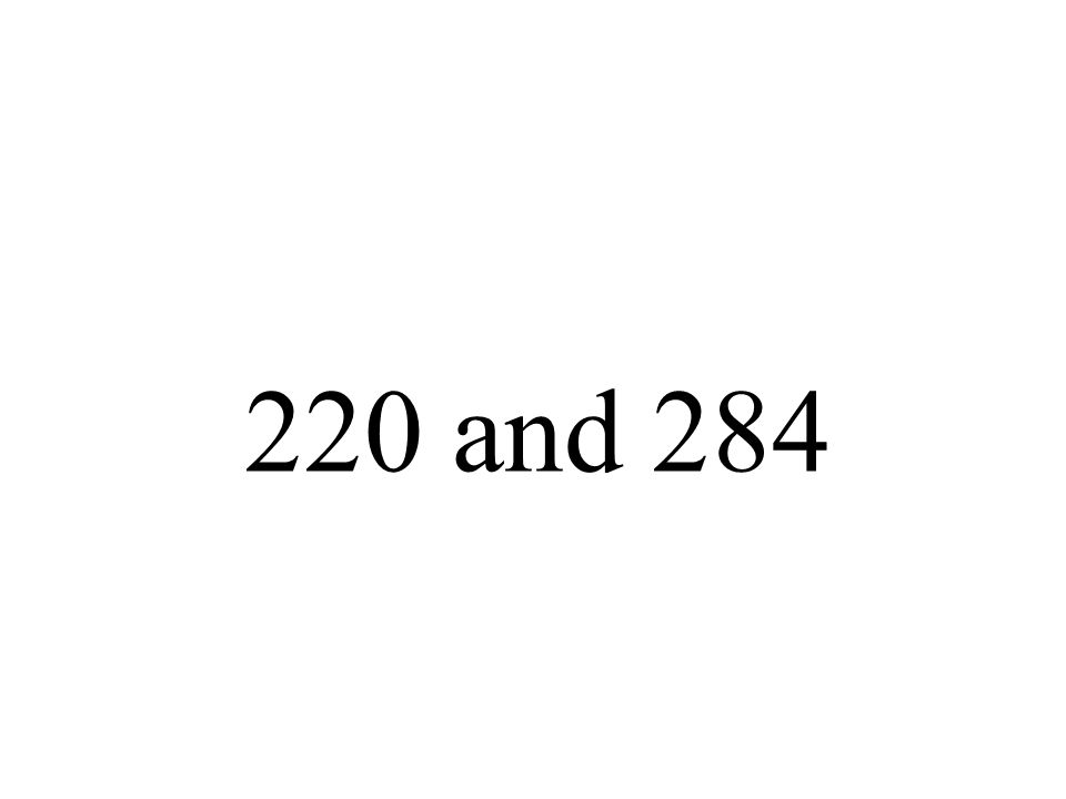 220 and 284