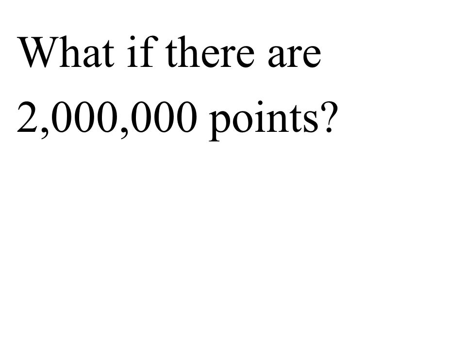 What if there are 2,000,000 points?