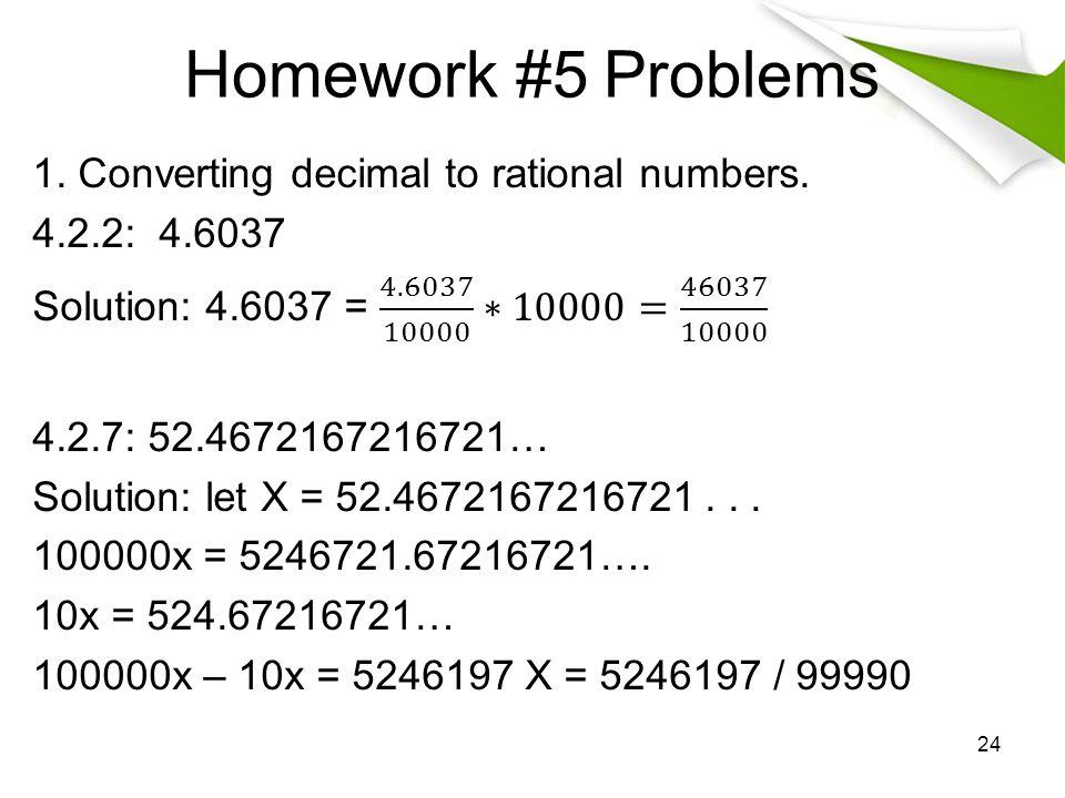 Homework #5 Problems 24