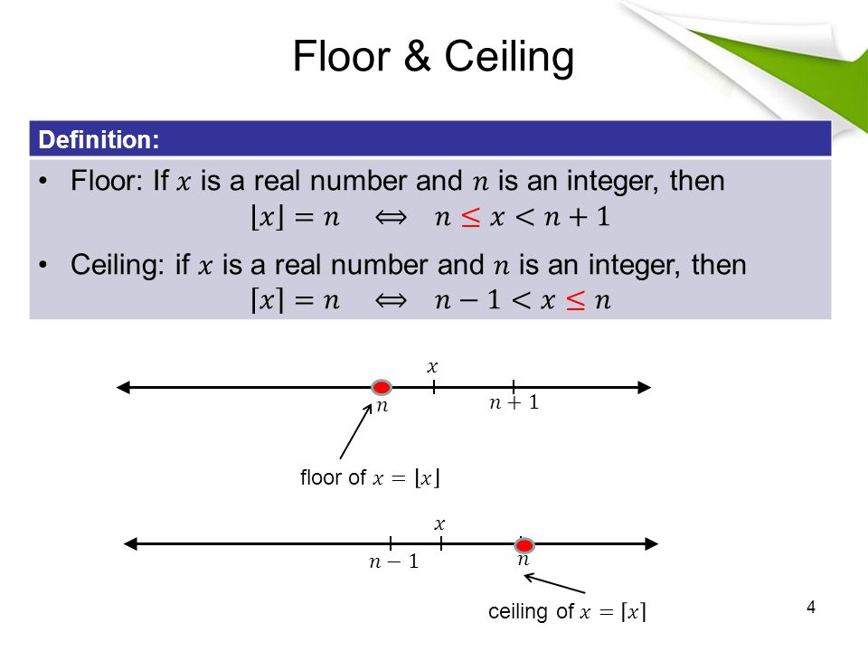 Floor & Ceiling 4 Definition: