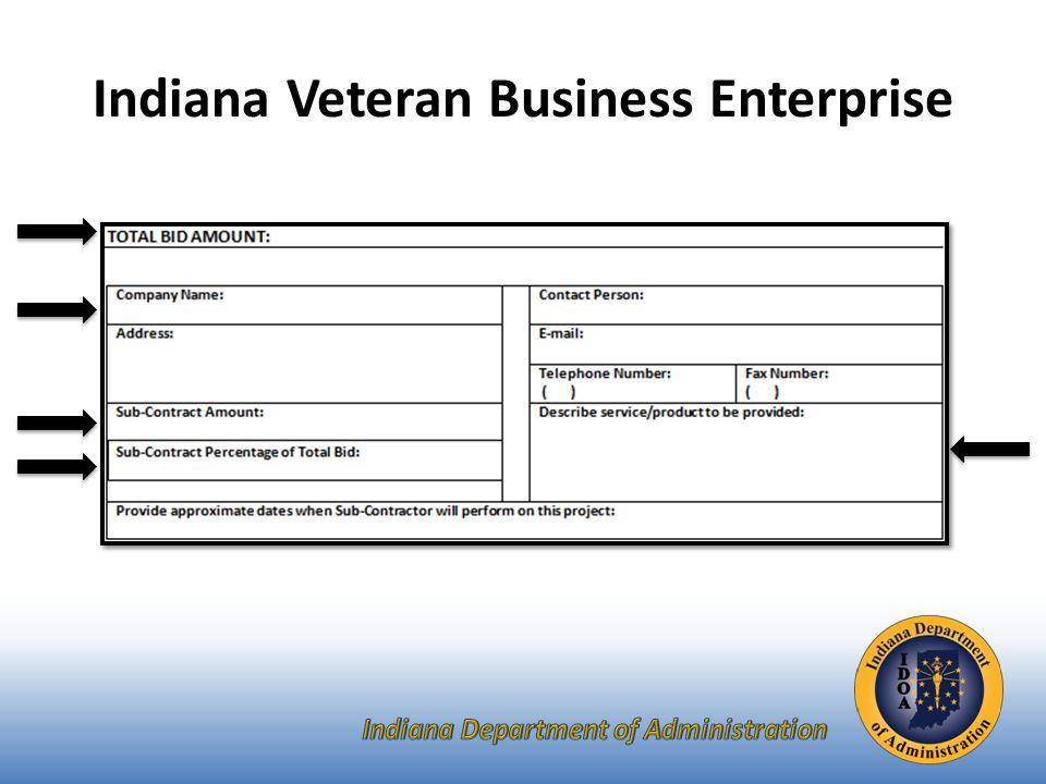 Indiana Veteran Business Enterprise