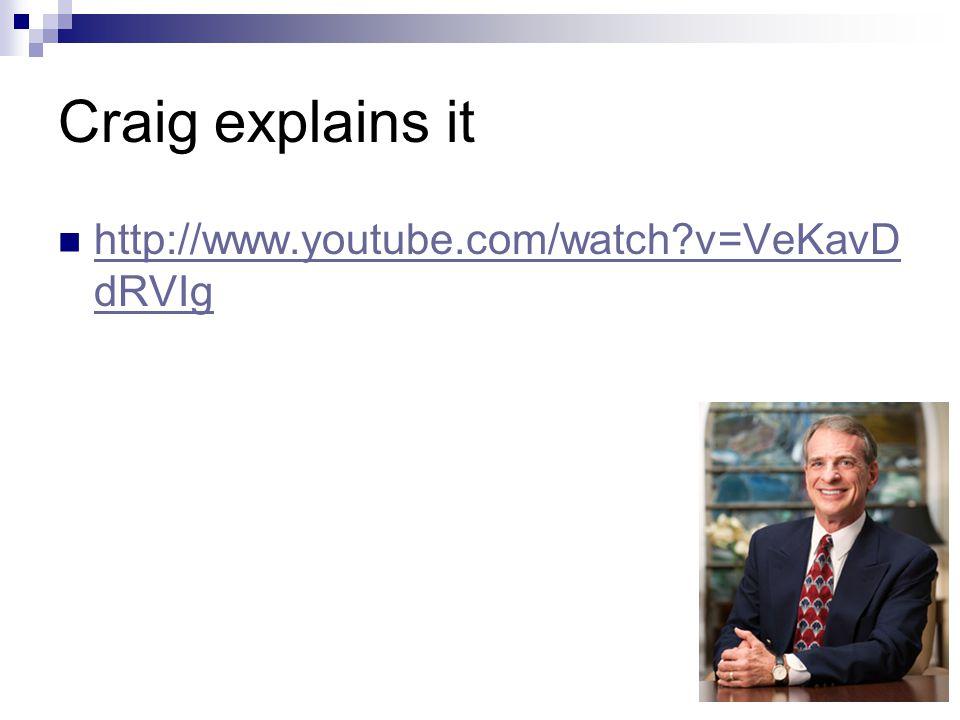 Craig explains it http://www.youtube.com/watch?v=VeKavD dRVIg http://www.youtube.com/watch?v=VeKavD dRVIg