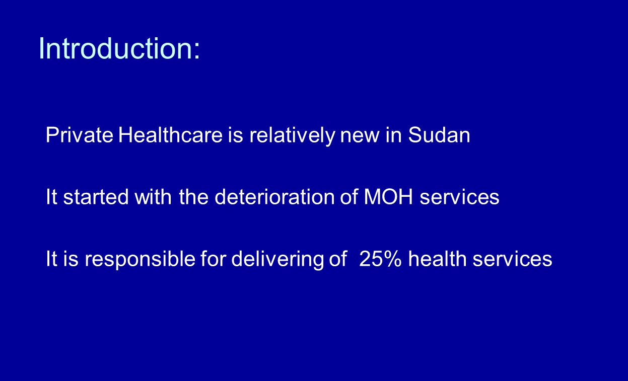 Doctors' Problems: - Role of Sudan Doctors Union towards patients & members Hardly any role at all