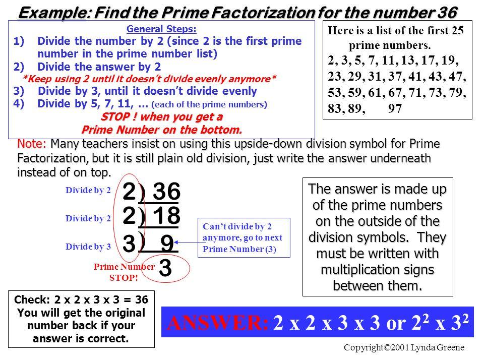 List of prime numbers.