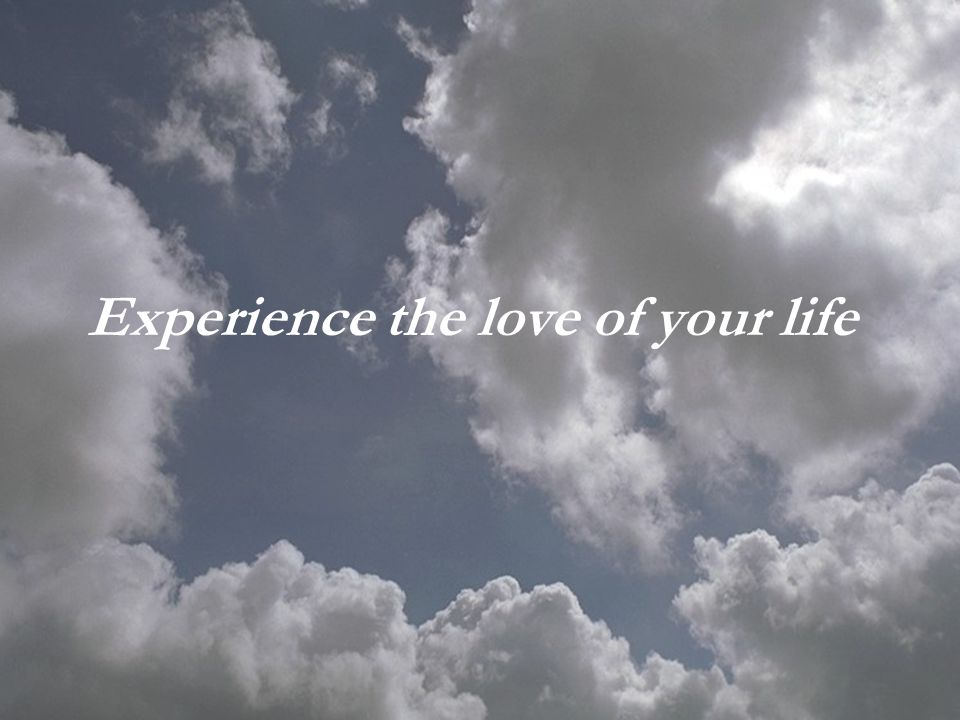 Experience the love of your life