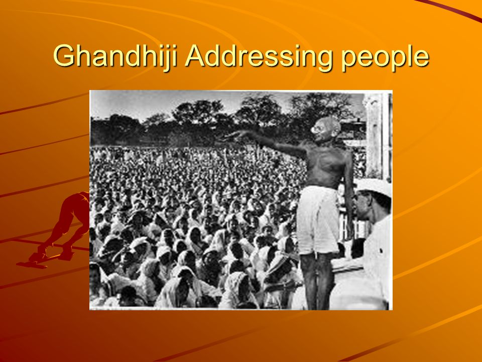 Ghandhiji Addressing people