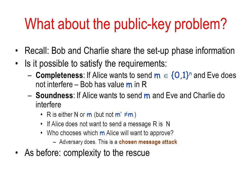What about the public-key problem.
