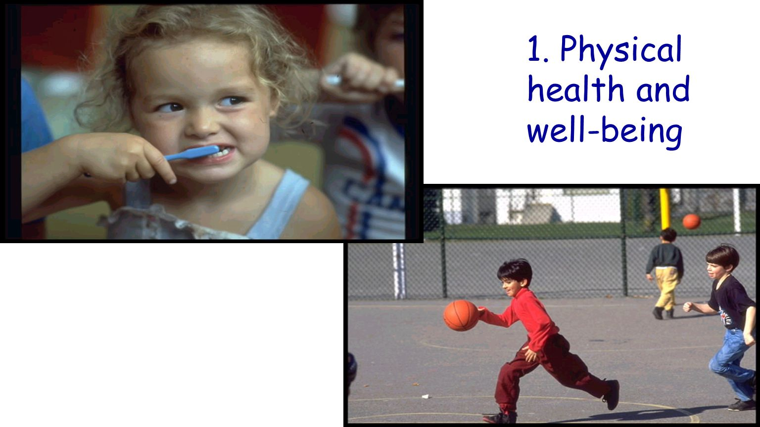1. Physical health and well-being