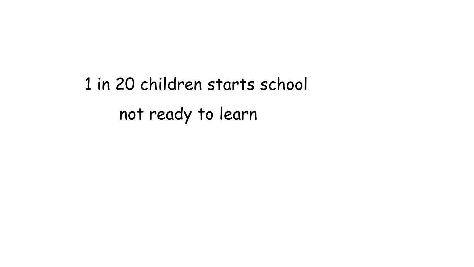1 in 20 children starts school not ready to learn