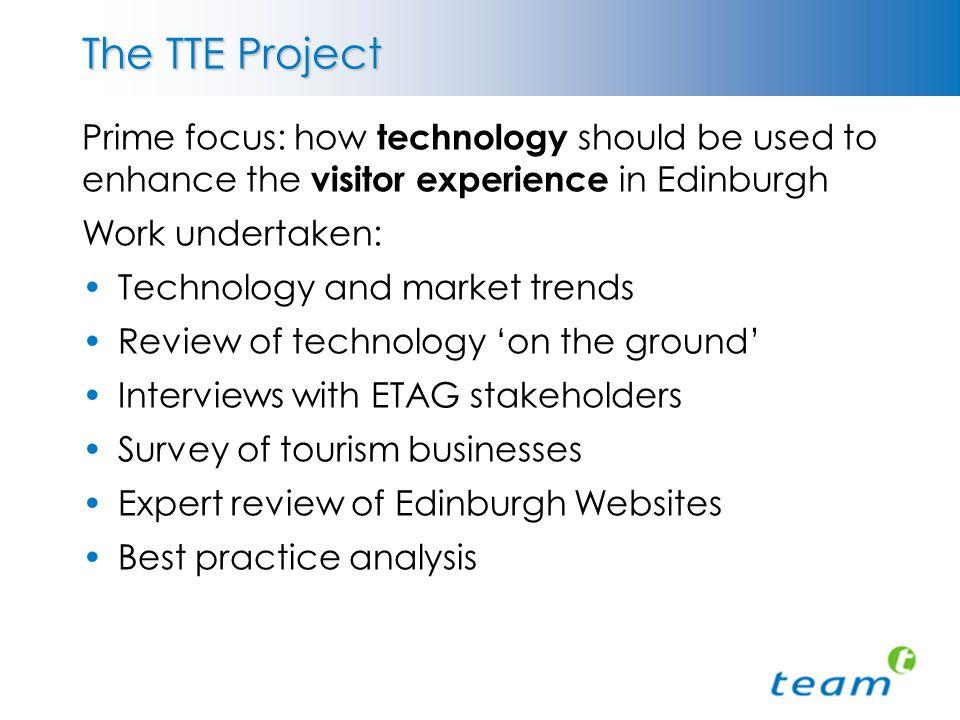 Agenda The TTE Project The Big Picture