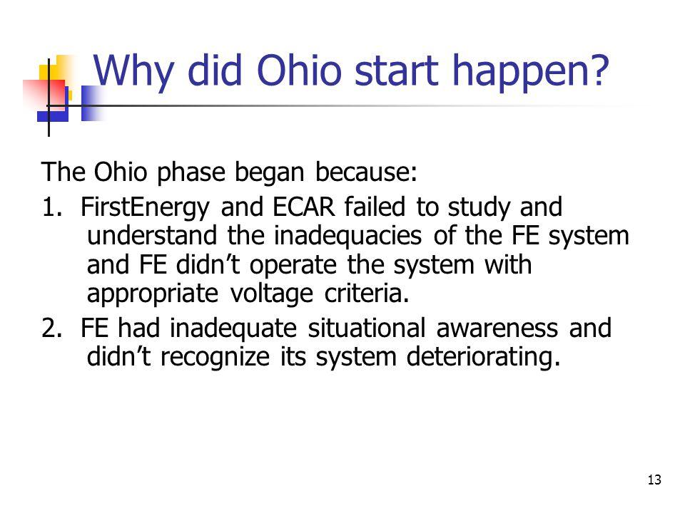 14 Why did Ohio start happen.3.