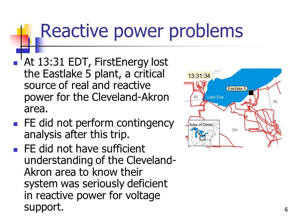 7 Cleveland area voltage began falling