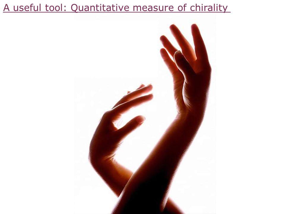A useful tool: Quantitative measure of chirality