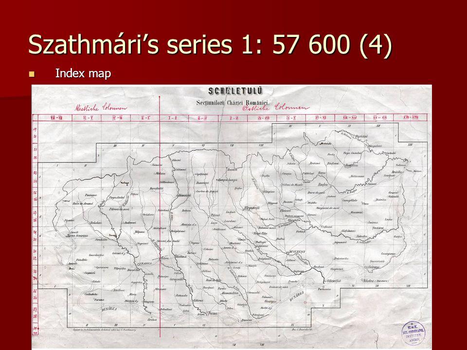 Szathmári's series 1: 57 600 (4) Index map Index map