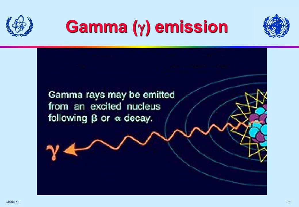 Module III - 21 Gamma (  ) emission