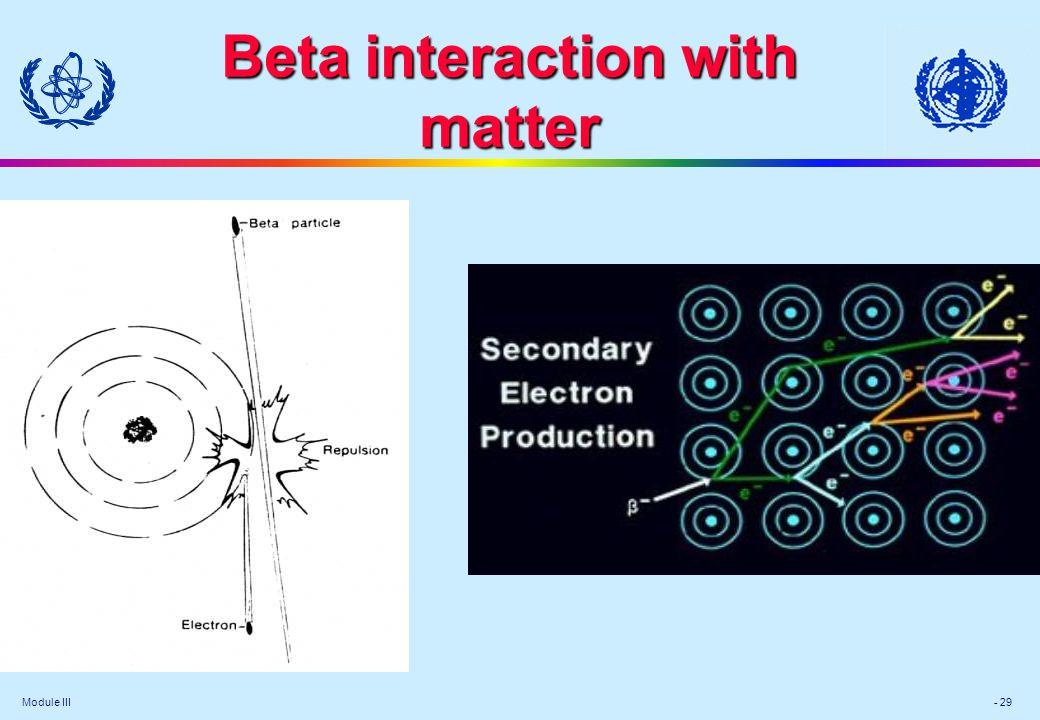 Module III - 29 Beta interaction with matter
