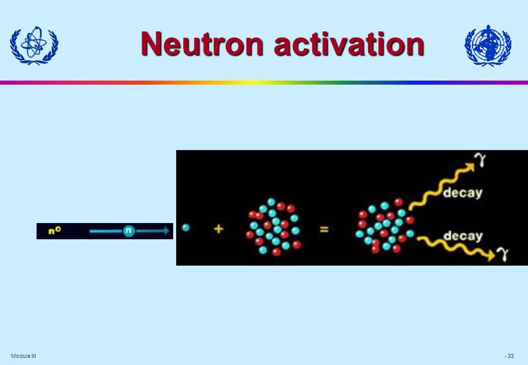 Module III - 33 Neutron activation