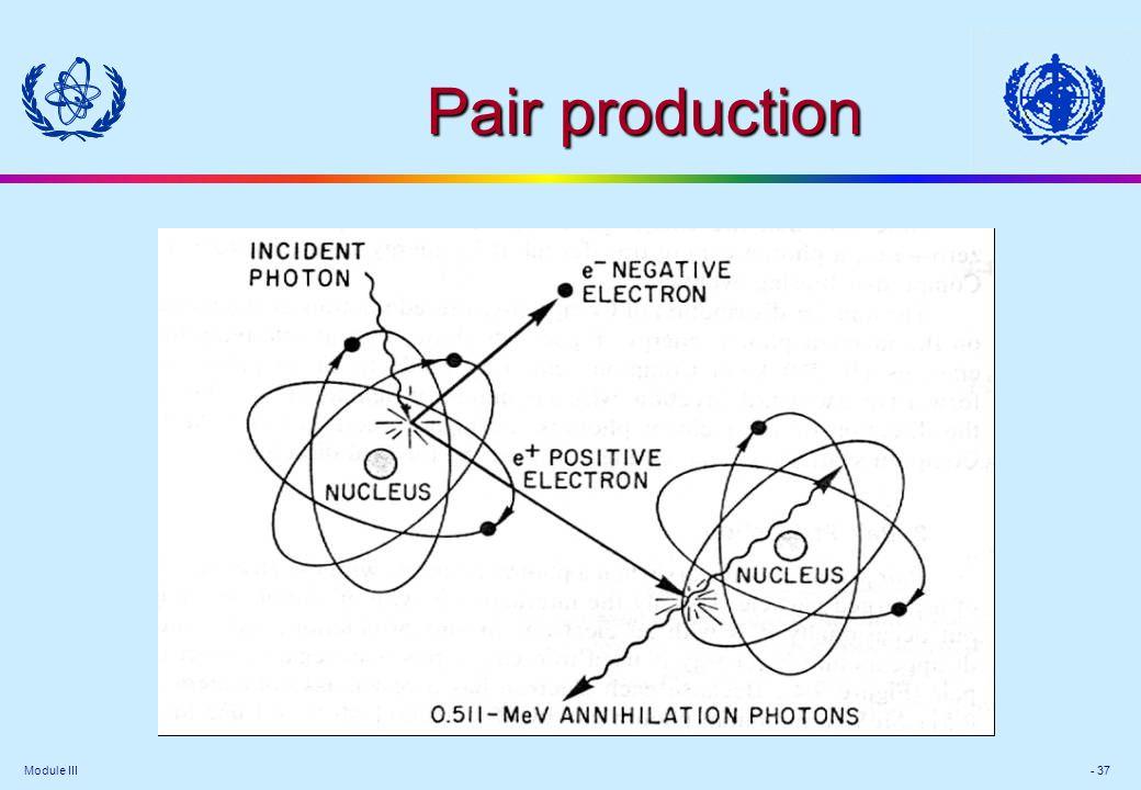 Module III - 37 Pair production