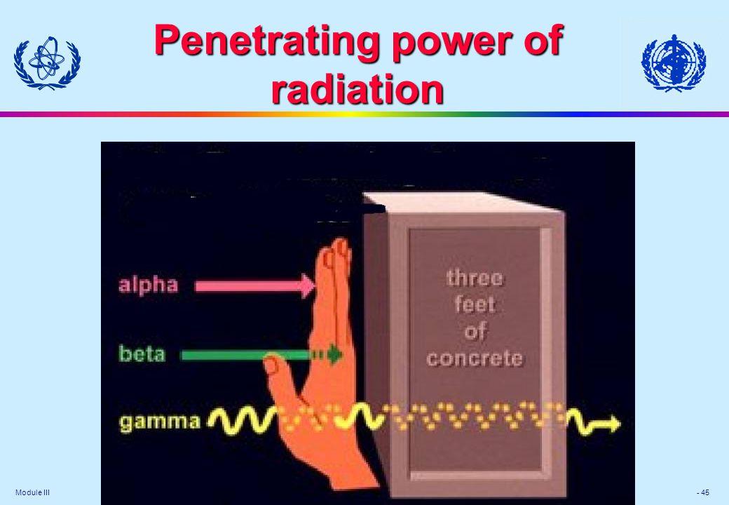 Module III - 45 Penetrating power of radiation