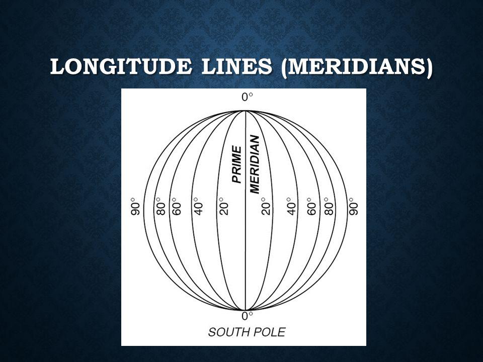 LONGITUDE LINES (MERIDIANS)