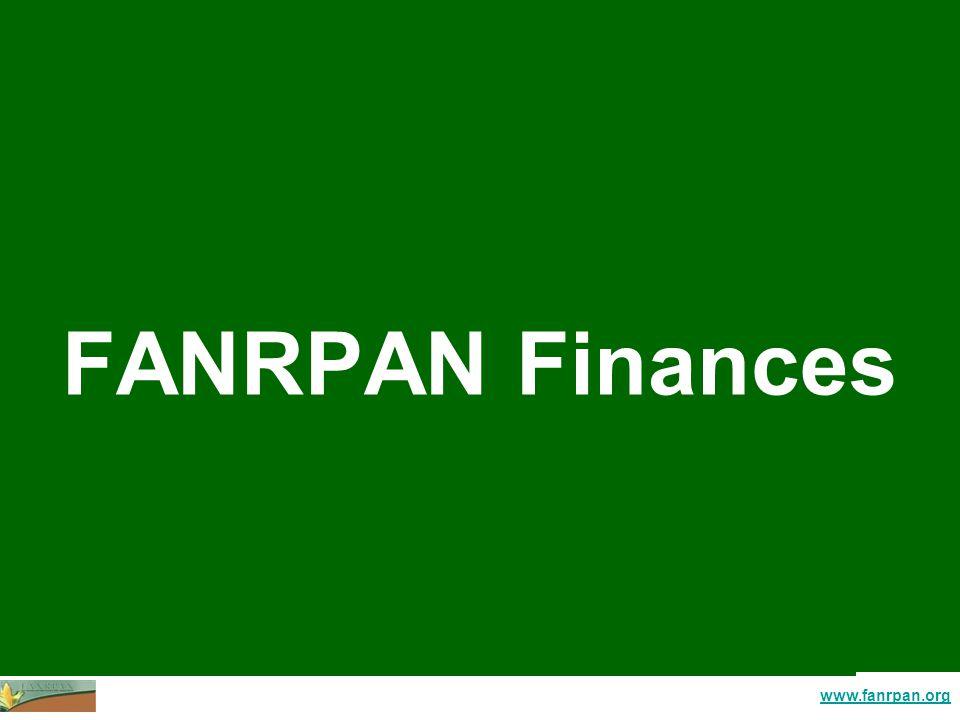 www.fanrpan.org FANRPAN Finances