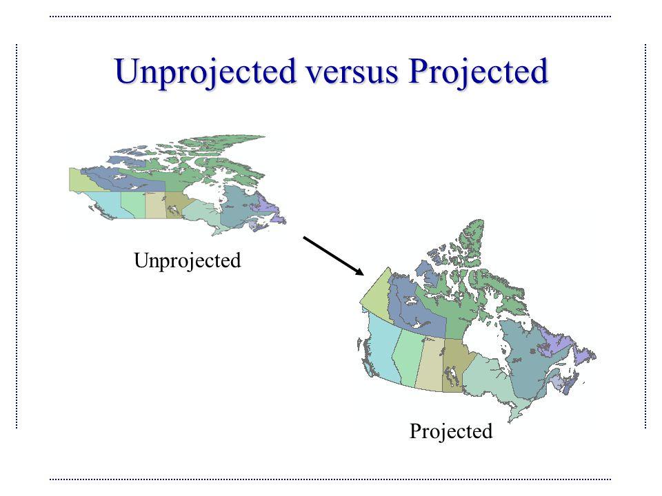 Unprojected versus Projected Projected Unprojected