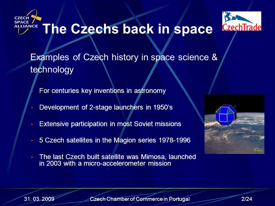 2/24 ▶ For centuries key inventions in astronomy ▶ Development of 2-stage launchers in 1950's ▶ Extensive participation in most Soviet missions ▶ 5 Cz