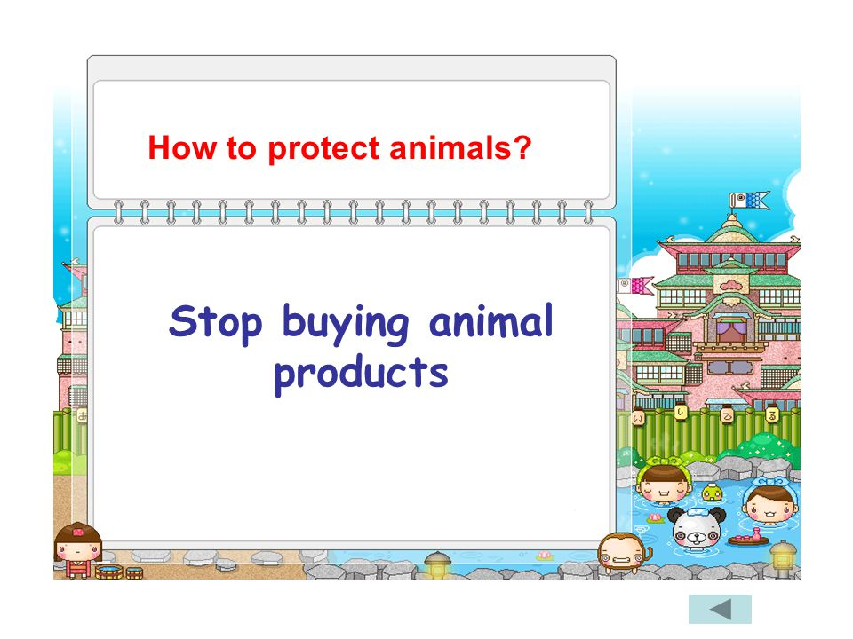 Stop buying animal products How to protect animals?