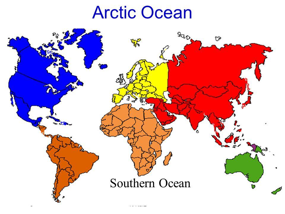 August 2007 K Raiz Arctic Ocean Southern Ocean