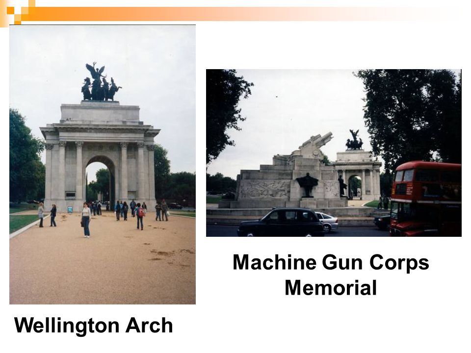 Wellington Arch Machine Gun Corps Memorial