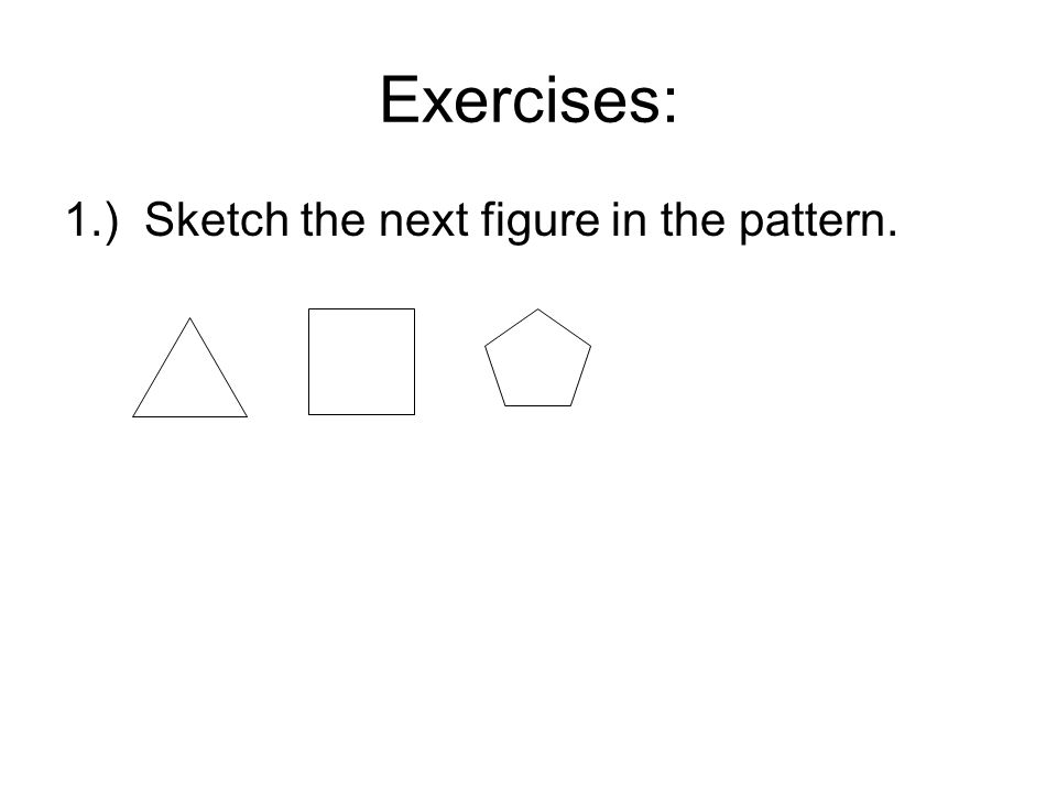 2.) Describe a pattern in the sequence of numbers.