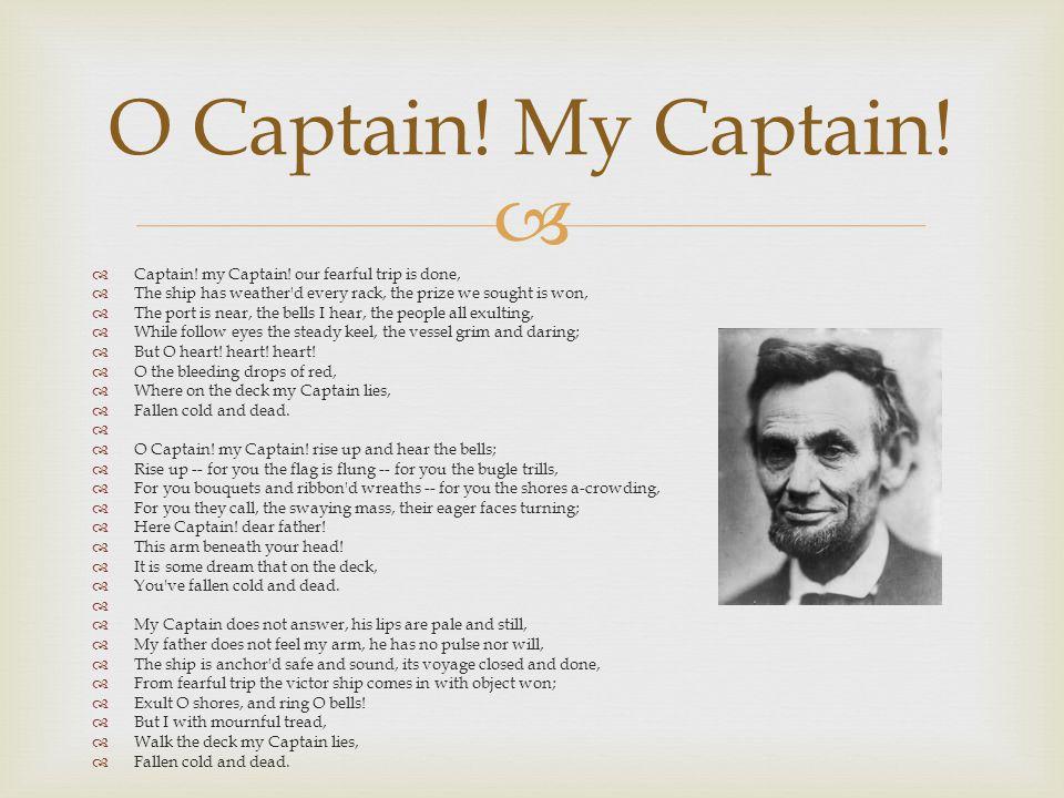   Captain.my Captain.