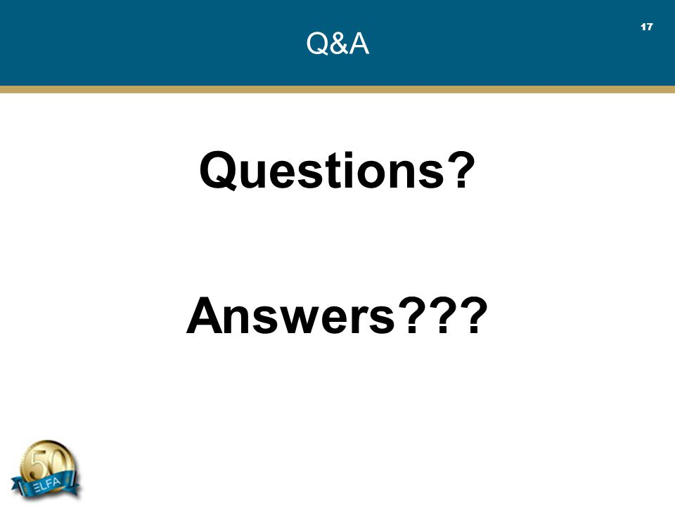 17 Q&A Questions Answers